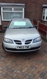 Nissan almera 5dr hatch back