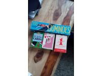 Dominoes and three packs of playing cards