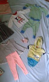 Baby clothes -dresses, pjs, top, leggings