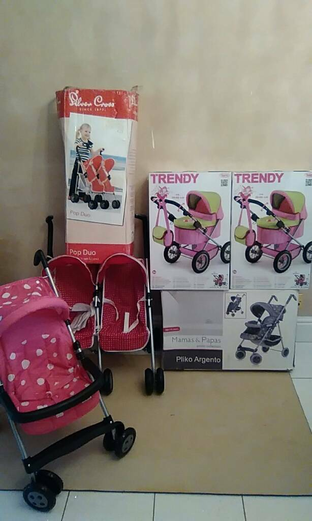 All new assorted dolls prams
