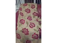 pair Montgomery curtains heavy material fully lined perfect condition - 66 x 90.ins