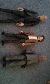 3x Dr who figures