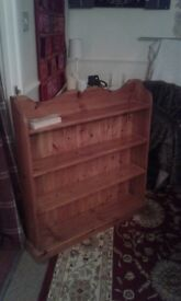 Pine book case ,good heavy quality