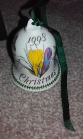 Portmeirion collectable 1998 Christmas tree bell