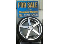 20'' 5 SPOKE ALLOYS, TYRES AS NEW, £475 ,FIT VW AUDI SEAT a4 ETC