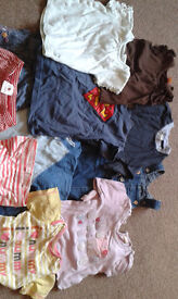 GIRLS 9-12 MONTHS CLOTHES BUNDLE