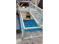 6ft x 3ft house and run, rabbit hutch / guinea pig hutch / tortoise house and run