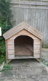 Large Dog Kennel.Wood with felted Roof.Never used.VGC.