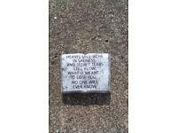 Small memorial plaques