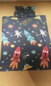 Space cot bed duvet cover & pillowcase