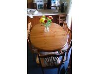 Ducal Extending dining table and six chairs