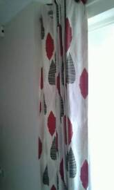 NEXT CURTAINS AND MATCHING RUG