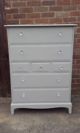 stag tall boy drawers shabby chic
