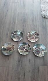 set of 5 farming plates all fine bone china.wedgewood limited editions.All good condition