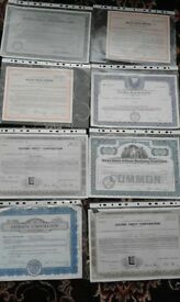 Stock/share certificates