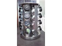Stainless Steel spice rack, rotates