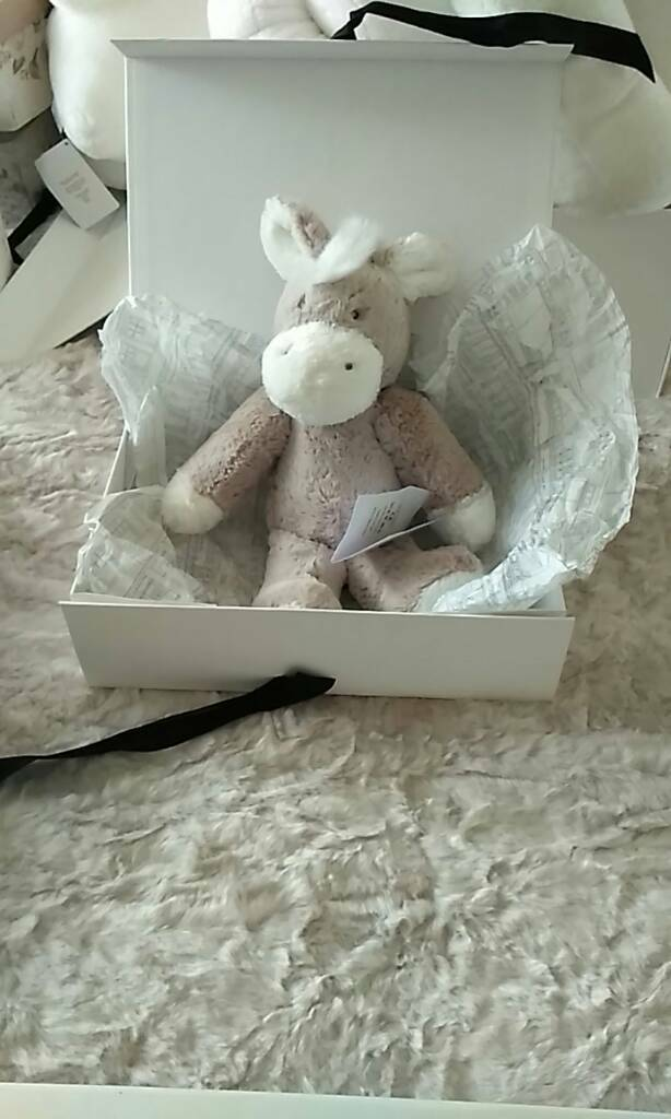 Little white company medium little donkey bnwt in gift box