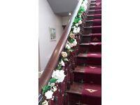 Wedding flower garland. 27 ft total length