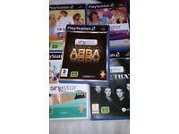 Bundle of playstation 2 singstar games