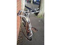 Bike rack for tailgate van