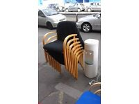 assortment of chairs in blue or black