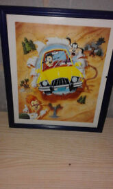Goofy disney lithograph (without frame)