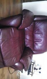 Electric recliner chair leather free. Sold