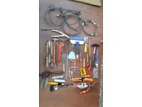 ASSORTED HAND TOOLS & various winch cables. £30 AS A BUNDLE ONLY. NO TEXTS PLEASE.