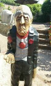 Life size wooden butler