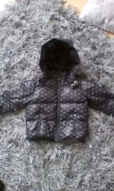 Armani baby winter coat 12months