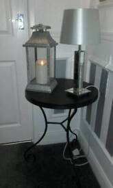 Beautiful New Large led Latern Mirror lamp and Black table