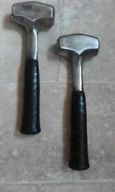 lump hammers steel shaft x 2
