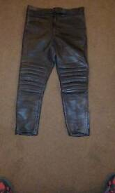 Motorcycle leather jeans