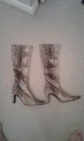 Next stretch snake skin effect size 6 boots