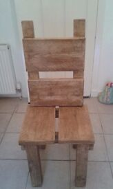 HAND MADE RUSTIC STYLE KITCHEN / DINING CHAIRS