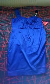 Tagged midnight blue one shoulder dress size 14