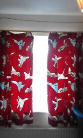 Next Aeroplanes Duvet Set & Matching Curtains