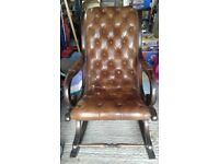 Leather rocking chair