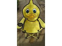 Child's duck folding outdoor chair