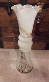 """17"""" tall murano glass fluted vase"""