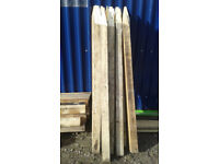 FENCE POSTS, POINTED, 6 FOOT 6INCH LONG, 4X4 INCH THICK. HORSE AND BEAST STRENGTH