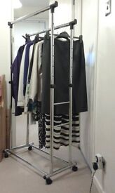 Double Clothing rail on wheels