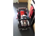 Kids electric ride on hummer style car parental control