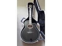 Yamaha APX1000 electro-acoustic guitar in mocha black - with hardcase