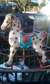 Vintage Tin Rocking Horse