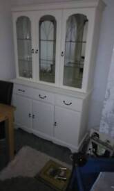 Cabinet glass doors cupboards and drawers