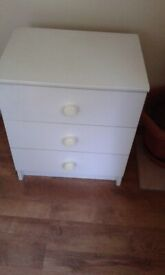 Bedside chest of draws