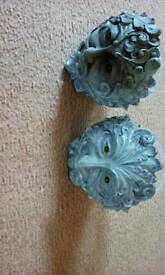 Greenman candle holders x2