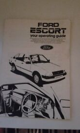 Ford Escort MK 3 operating guide