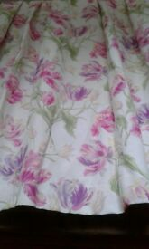Laura Ashley Curtains Gosford Cyclamen - window 244 x 162